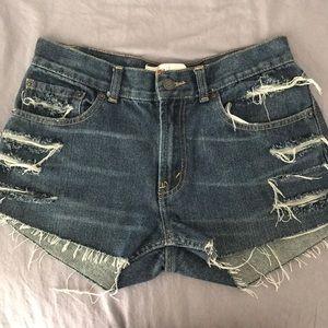 Levi's 505 Distressed Shorts
